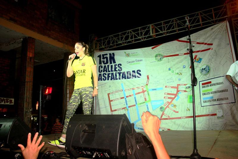 Alcaldesa lideró segunda etapa inaugural  de calles asfaltadas por su administración