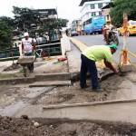 Reconstrucción de tramo en intersección céntrica
