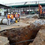 Se intensifican trabajos del sistema de  aguas lluvias en obra de alcantarillado