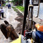 Trabajos de drenaje en varios frentes tras incesante aguacero