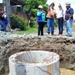 La obra de alcantarillado II fase con 100% en el sistema  pluvial y 50% en sanitario, fue supervisada por alcaldesa