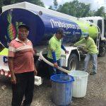 El agua en tanquero llega a sectores urbanos y rurales