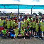 Selección de vacacionales de fútbol del GADM Milagro derrotó 11 a 1 a El Triunfo