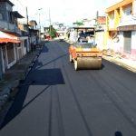368 metros lineales de calle Cuba con nueva capa asfáltica