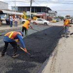 Reposición de asfalto en vías intervenidas con alcantarillado
