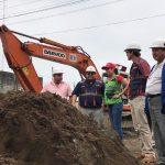 Alcaldesa recorre y fiscaliza obras de asfaltado en vías intervenidas con alcantarillado integral