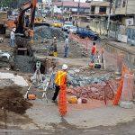 Obra de alcantarillado sanitario en nuevos tramos de avenida Colón