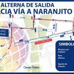 Se suspende doble sentido de circulación en calle Andrés Bello