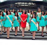 Las 14 bellas candidatas a Reina de Milagro, se lucieron en primera presentación ante los Medios