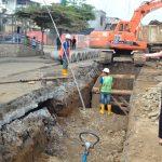 Alcaldesa supervisó desarrollo de obra de alcantarillado y reconstrucción vial