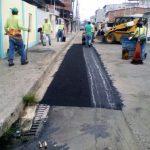 Reposición de asfalto en calles de Rosa María