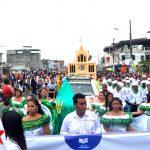 Estudiantes le rindieron homenaje a Milagro con desfile cívico-cultural