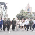 Con desfile cívico-militar, Milagro abrió jornada conmemorativa por 105 años de cantonización