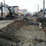 Trabajos de excavación para mejoramiento de suelo en segundo tramo de avenida Colón