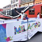 Turistas de nuestro país y del extranjero arribaron en el Tren de la Dulzura