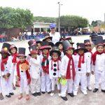 Escuela Eloy Velásquez celebró la Navidad junto a la alcaldesa
