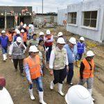 Alcaldesa participó en recorrido de obra de construcción unidad educativa del milenio
