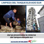 SE REALIZA LIMPIEZA EN CISTERNA DEL TANQUE ELEVADO SUR