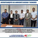 Taller de actualización sobre concesiones mineras a GADs