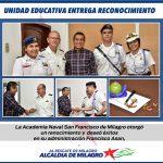 ACADEMIA NAVAL MILAGRO ENTREGA RECONOCIMIENTO AL ALCADE DE MILAGRO