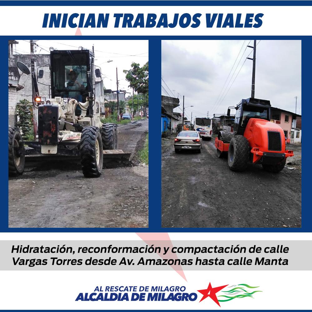 INICIAN TRABAJOS DE RECONFORMACION VIAL