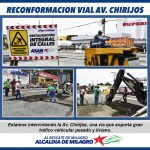 RECONFORMACION VIAL AV. CHIRIJOS