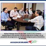 CNEL Y ALCALDIA DE MILAGRO DEFINEN ACCIONES A FAVOR DE LA COMUNIDAD