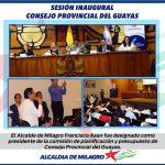 SESION INAUGURAL CONSEJO PROVINCIAL DEL GUAYAS