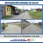 RECONFORMACION VIAL SECTOR 13 DE ABRIL