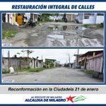 INTERVENCION DE CALLES EN CDLA 21 DE ENERO