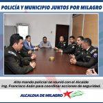 ALTO MANDO POLICIAL MANTUVO REUNION CON ALCALDE
