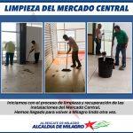 INICIAN TRABAJOS DE LIMPIEZA Y RECUPERACION EN MERCADO CENTRAL