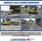 ARREGLO EN CALLE SIMON RODRIGUEZ
