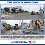 TRABAJOS EN LA AV. COLON ENTRAN EN ETAPA FINAL