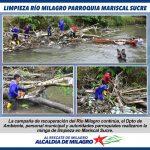 LIMPIEZA RIO MILAGRO EN MARISCAL SUCRE