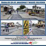 RESTAURACION VIAL AV. AMAZONAS Y MIGUEL VALVERDE