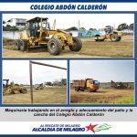 TRABAJOS EN LA U.E  ABDON CALDERON