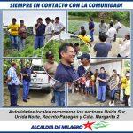 ALCALDE DE MILAGRO RECORRE LA CIUDAD