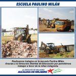 TRABAJOS EN LA ESCUELA PAULINO MILAN