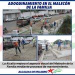 TRABAJOS EN EL MALECON DE LA FAMILIA