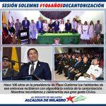 SESIÓN CONMEMORATIVA 106 AÑOS DE CANTONIZACIÓN