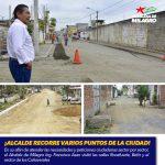 ALCALDE RECORRE VARIOS PUNTOS DE LA CIUDAD