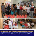 ENTREGA DE KITS DE VÍVERES A FAMILIAS DE BAJOS RECURSOS