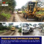 TRABAJOS VIALES TEMPORALES ZONA RURAL