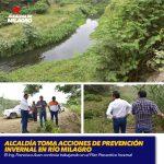 ALCALDÍA TOMA ACCIONES DE PREVENCIÓN INVERNAL EN RÍO MILAGRO